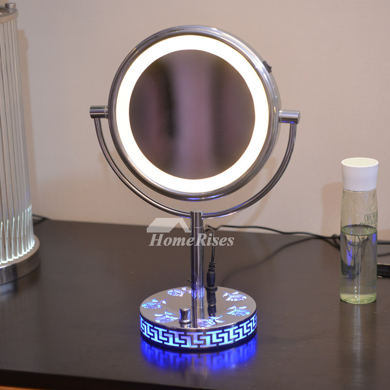 Makeup Stand With Lights And Mirror Led 3x Double Sided