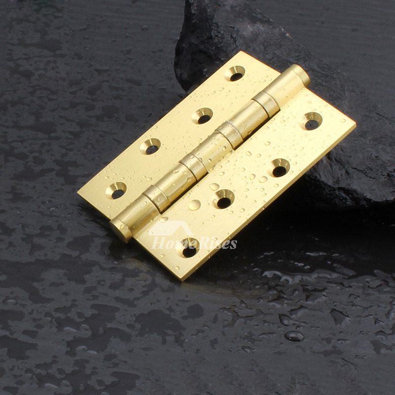 4 Inch Door Hinges Polished Brass 2 Pcs Gold Exterior Luxury