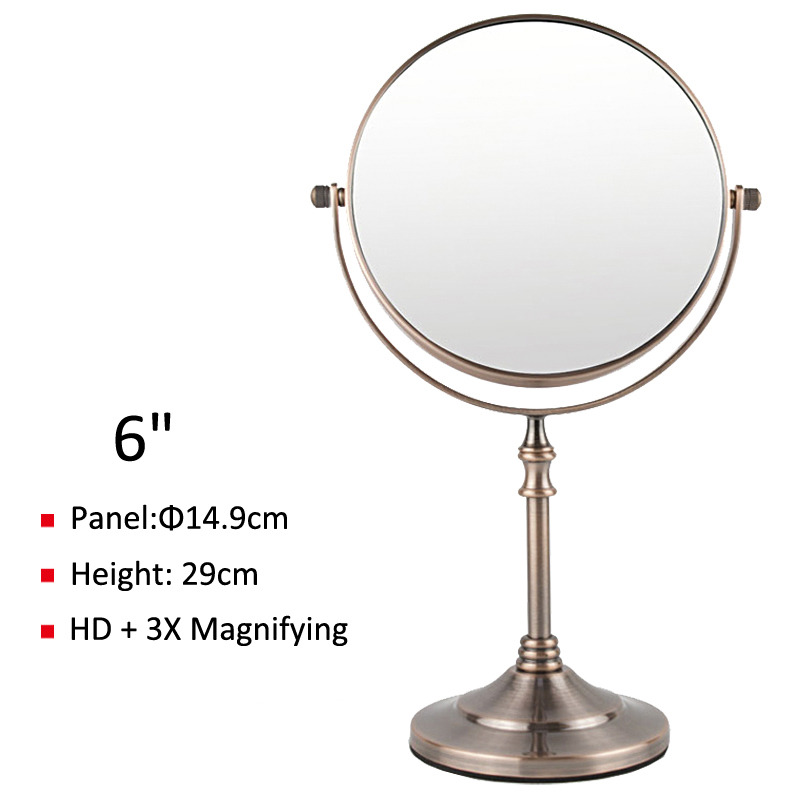 Best Magnifying Makeup Mirror Free Standing Silver Copper