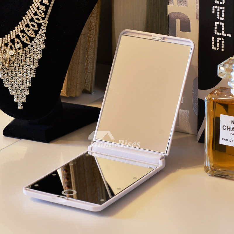 Portable Small Makeup Mirror With Lights Led Magnifying