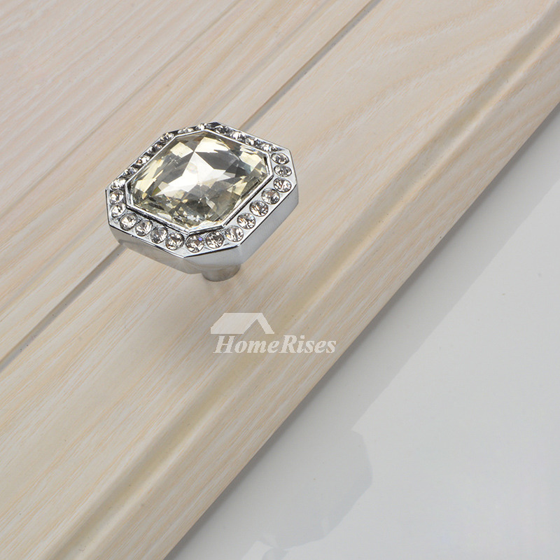 Dresser Drawer Knobs Small Gold Silver Carved Cabinet Crystal