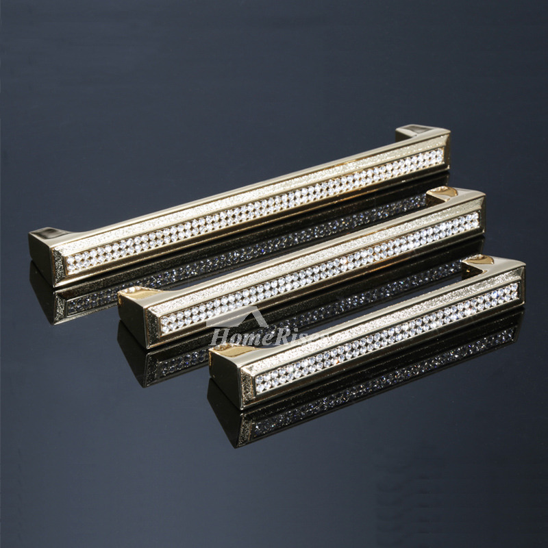 Kitchen Cabinet Pulls Drawer Cabinet Dresser Crystal Alloy