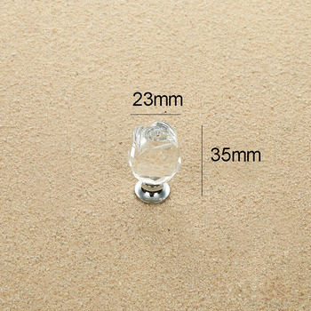 Crystal Door Knobs Small Alloy Cabinet Drawer Closet Small Bedroom