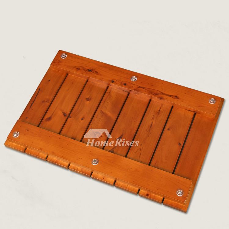 Wooden Bath Mat Rectangular Non Slip Best Long Modern Cedar
