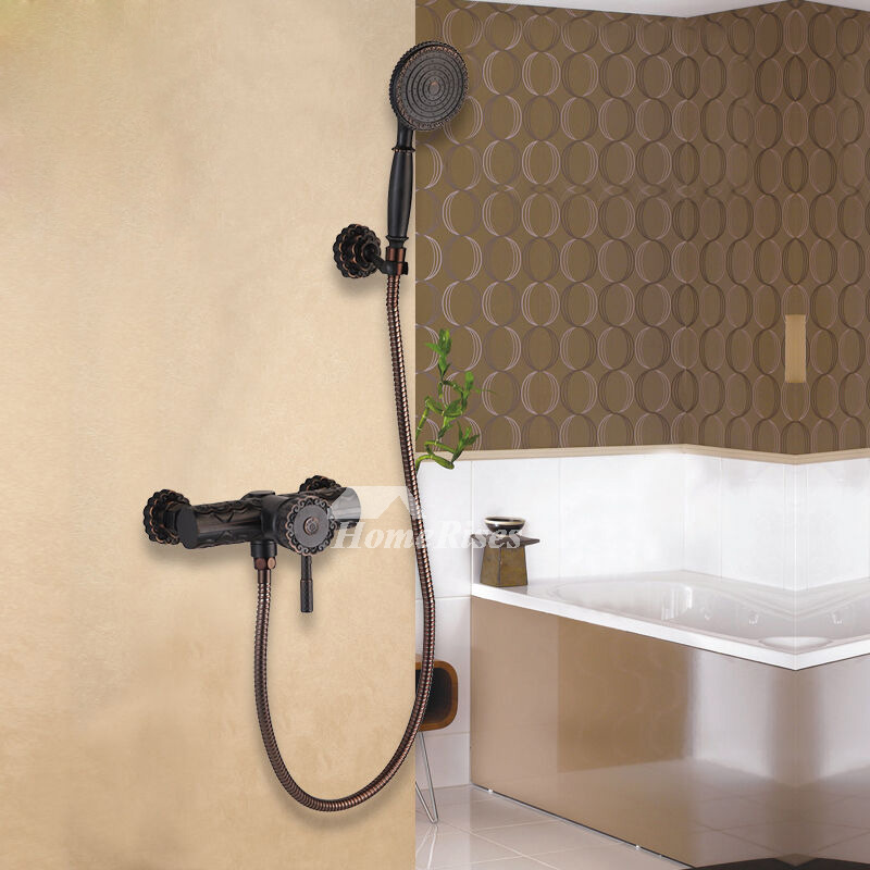 wall faucet bathroom. Matte Black Shower Faucet Wall Mount Oil-Rubbed Bronze Carved Bathroom O