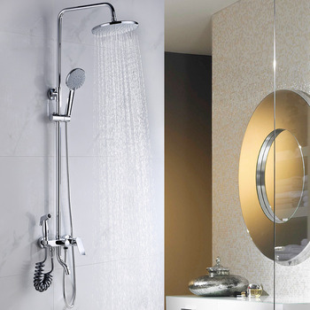 Exquisite Wall Mount Antique Brass Gold Shower Fixtures Bathroom - Silver and gold bathroom fixtures