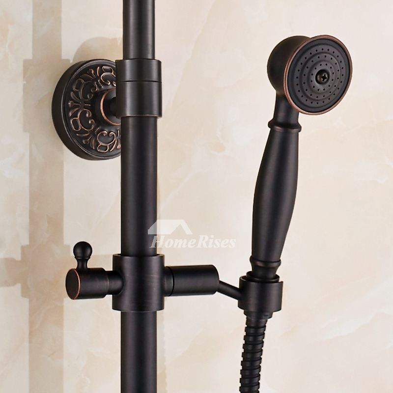 Best Shower Faucet Systems Oil Rubbed Bronze Black Wall Mount