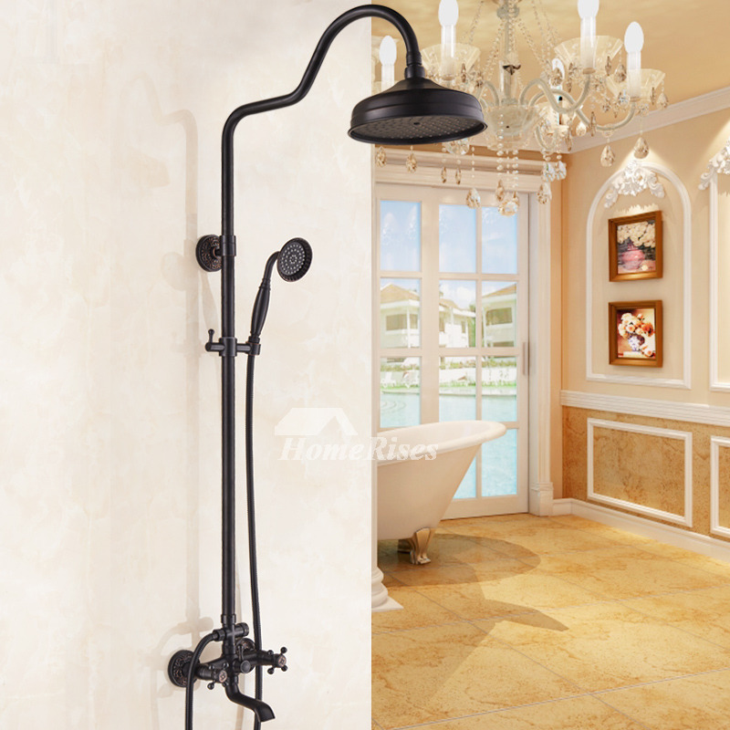Shower Spa System Oil-Rubbed Bronze Wall Mount Black Best Bar