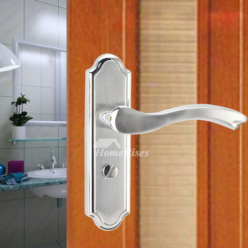designer stainless steel bedroom silver brushed exterior door lock without key