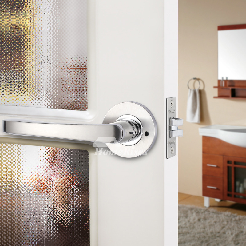 Bedroom Door Lock Handle Without Key Brushed Stainless