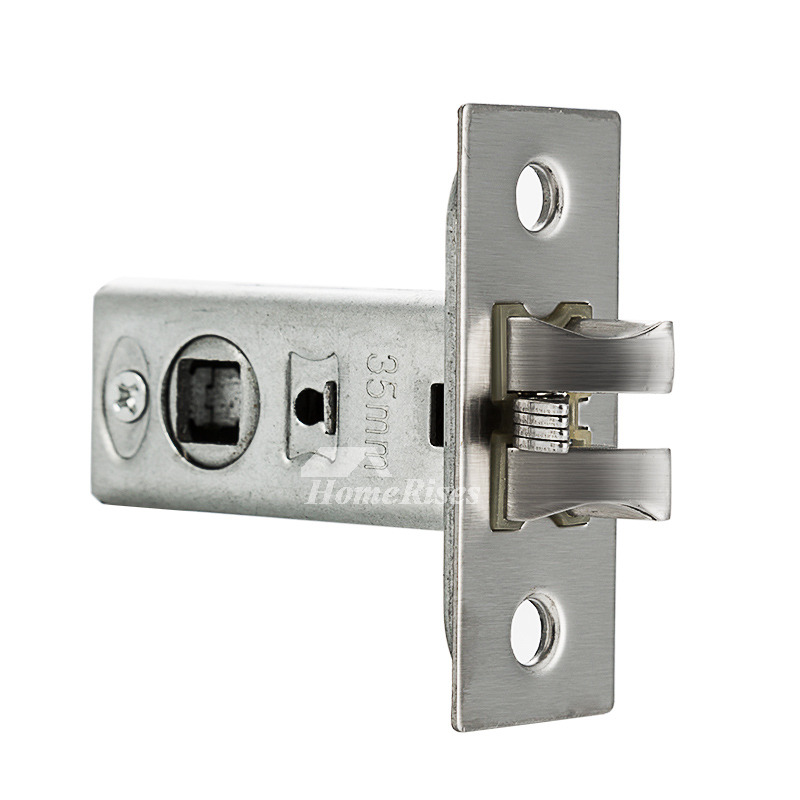 Solid stainless steel handle home door locks brushed - Bedroom door knobs with key lock ...