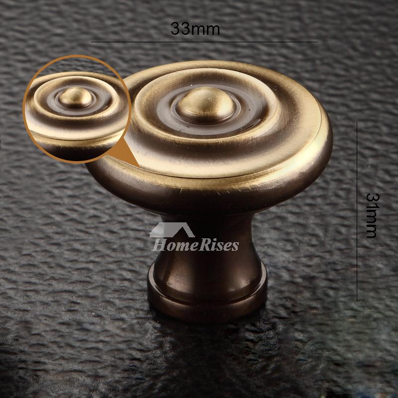 Antique Door Knobs Brass Small Gold/Bronze Closet Drawer ...