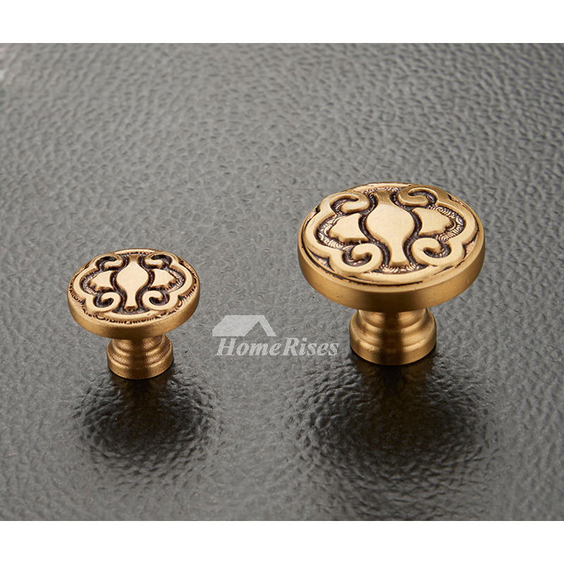 Vintage Door Knobs Carved Gold Bedroom Antique Brass Closet