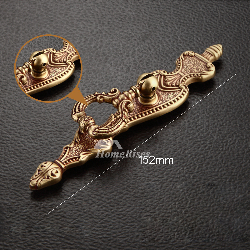 Pictures Show Carved Rose Gold 4 6 9 Inch Cabinet Door Pulls