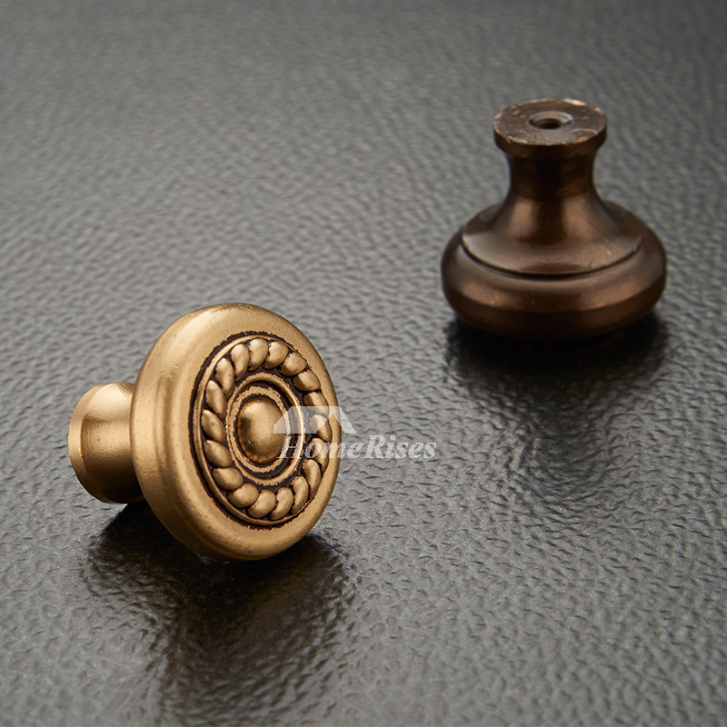 Brass Cabinet Knobs Carved Antique Brass Rose Gold Closet