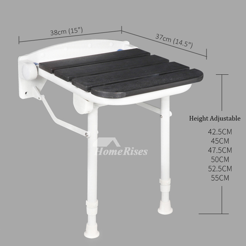 Height Adjustable Folding Shower Bench Seat With Legs