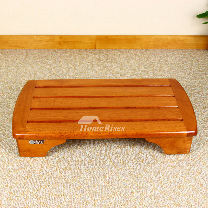 Shower Foot Stool Bath Mat Wood Rectangular Best Waterproof