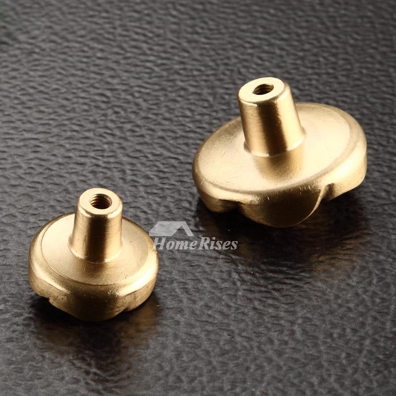 Polished Brass Door Knobs Carved Drawer Dresser Cabinet