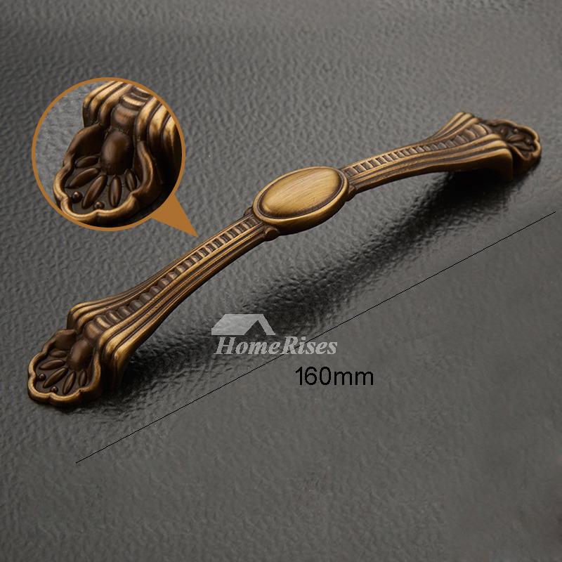3 5 5 6 5 Inch Antique Brass Dresser Knobs And Pulls
