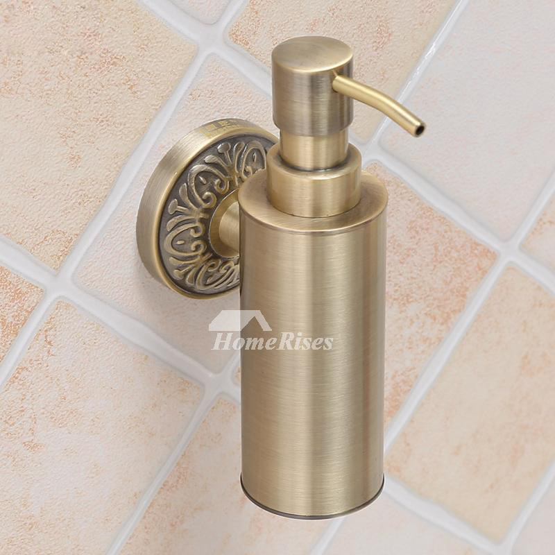 Brass Soap Dispenser Wall Mount Gold Vintage Bathroom Best