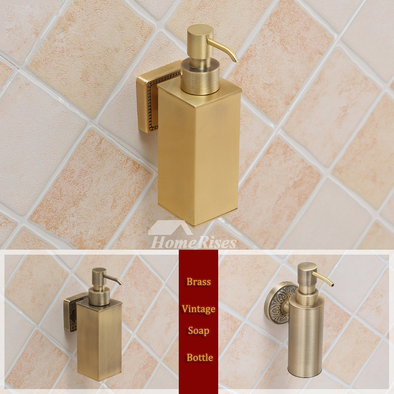 Peachy Brass Soap Dispenser Wall Mount Gold Vintage Bathroom Best Unique Theyellowbook Wood Chair Design Ideas Theyellowbookinfo