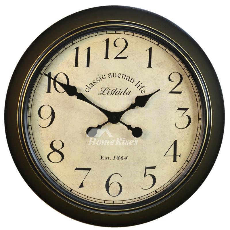 Big Round Wall Clocks 20 Inch Metal, Big Round Clock