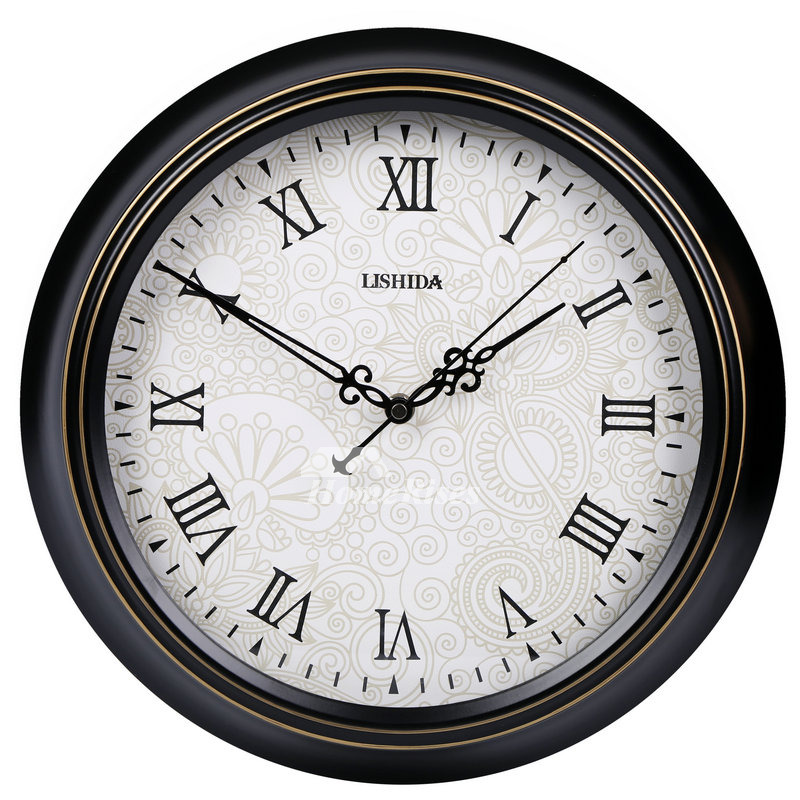 Retro Wall Clock Round Decorative Silent Hanging 14 16