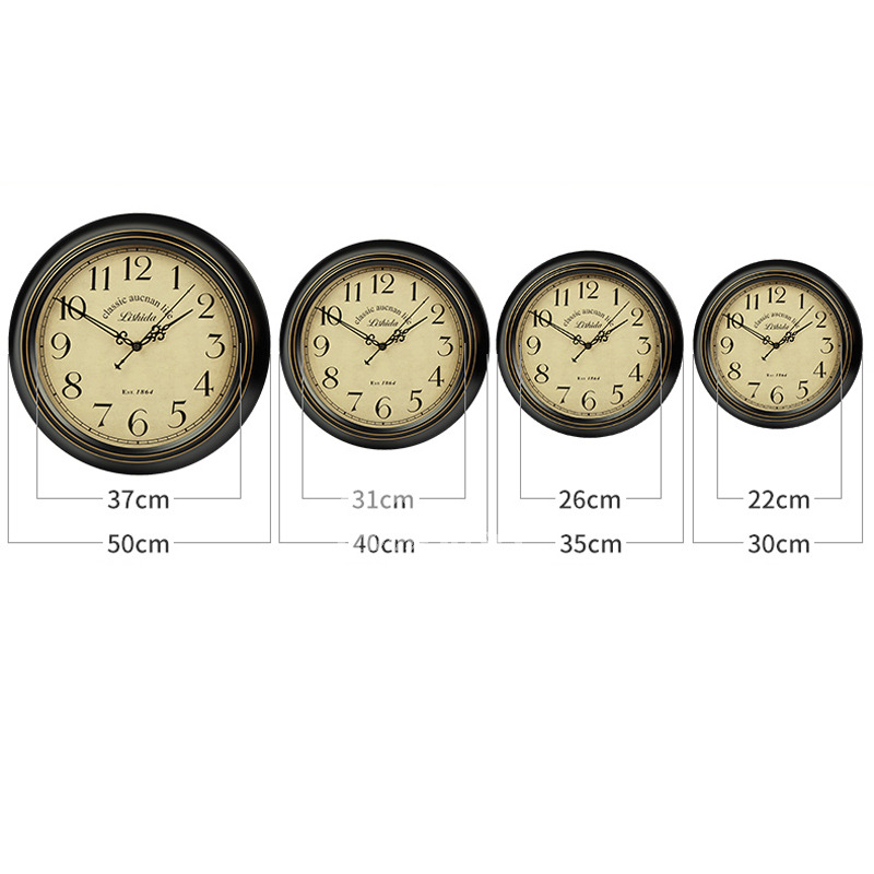 Cool Wall Clocks Round Metal Silent Unique 14 16 Inch