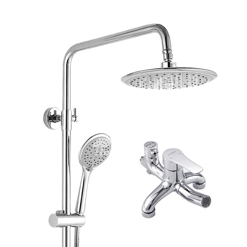 bathroom shower faucet set silver for sale chrome silver single handle