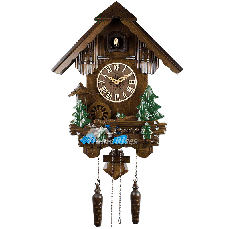 Unique Wall Clocks Cuckoo Telling Time Wood 20 Inch Living Room Painting