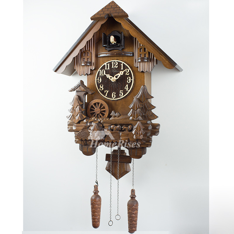unique wall clocks outdoor wall clocks hanging cuckoo telling time wood 29568
