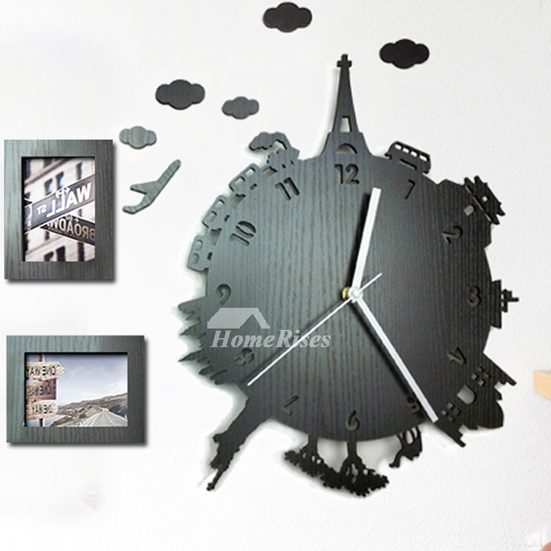 Unique Wall Clocks For Sale Wood Contemporary Hanging Carved