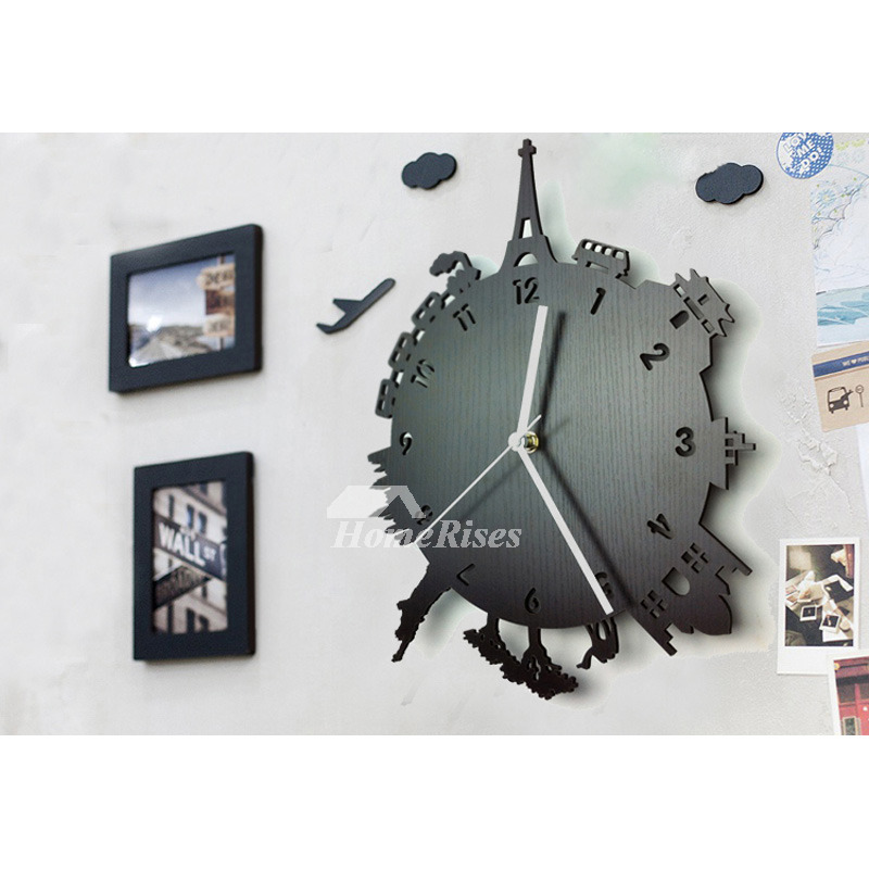 Unique Wall Clocks Part - 23: Unique Wall Clocks For Sale Wood Contemporary Hanging Carved