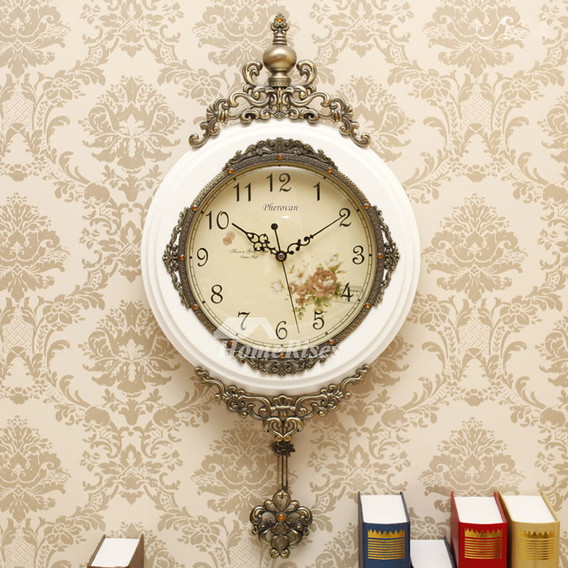 Antique Wall Clocks For Sale Modern Carved Pendulum Wood Hanging