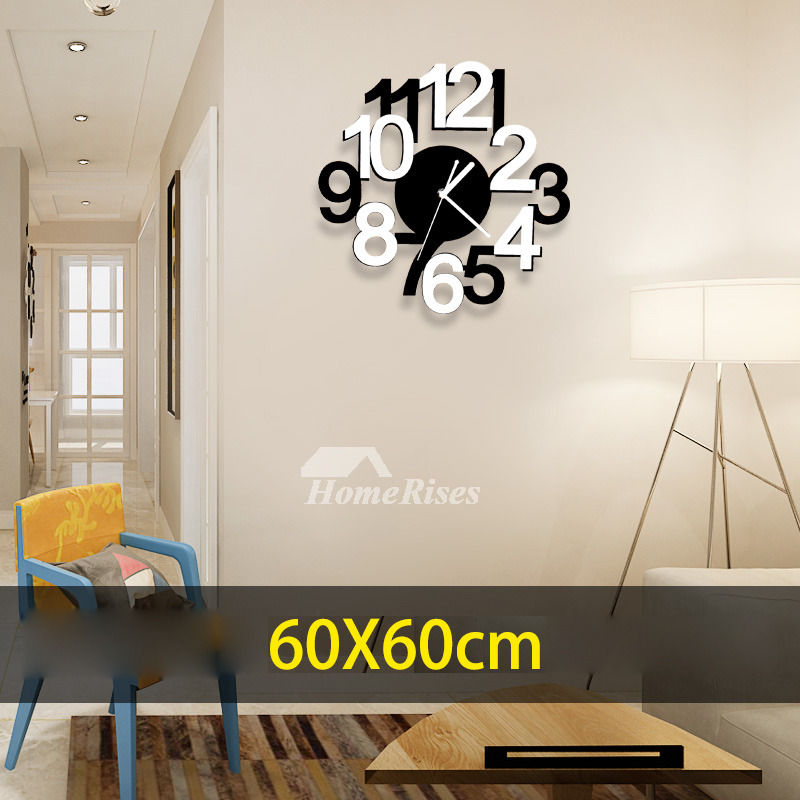 Wall Clocks Office 23.6/19.7 Inch Modern Acrylic Novelty