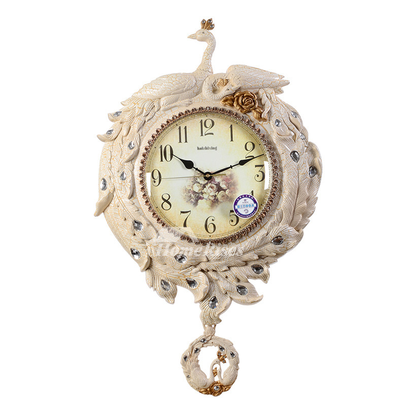 Best Wall Clocks Peacock Pvc Decorative Vintage Bathroom