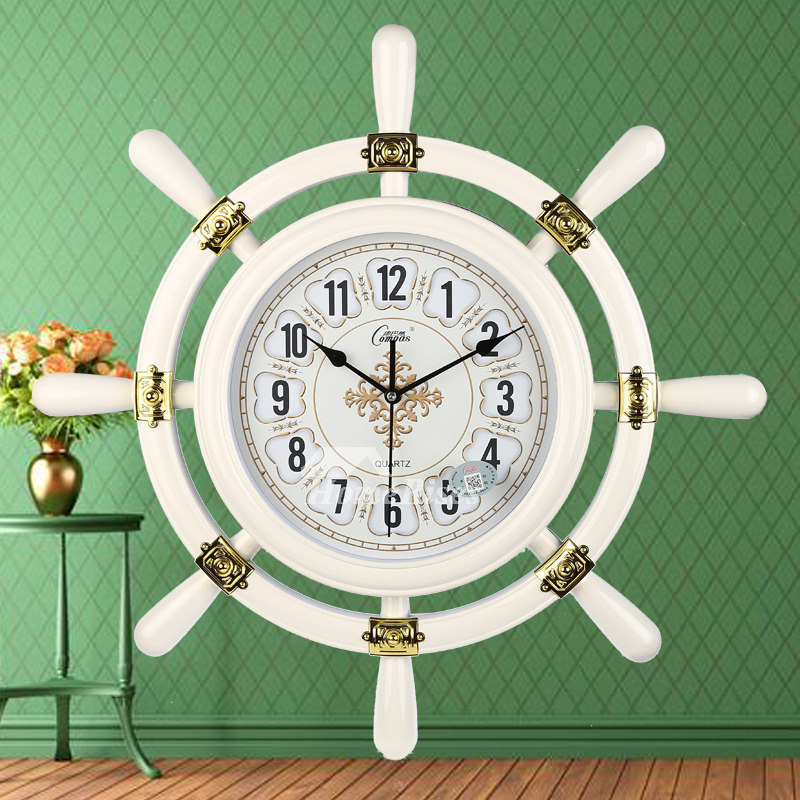 Nautical Wall Clock Silent 20 Inch Pvc Living Room For