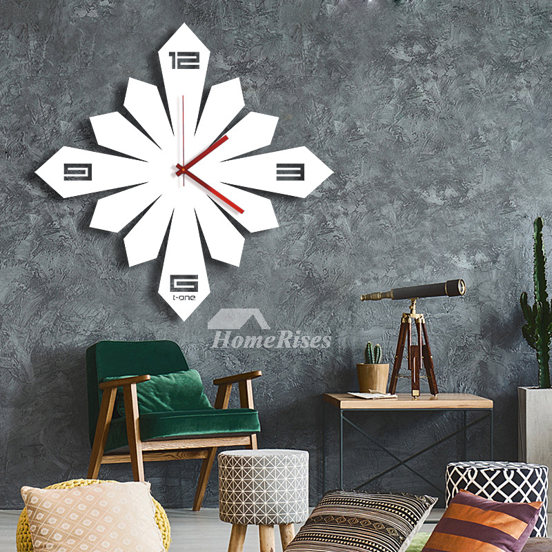 Creative Square Unique Wall Clocks Acrylic Cool Modern