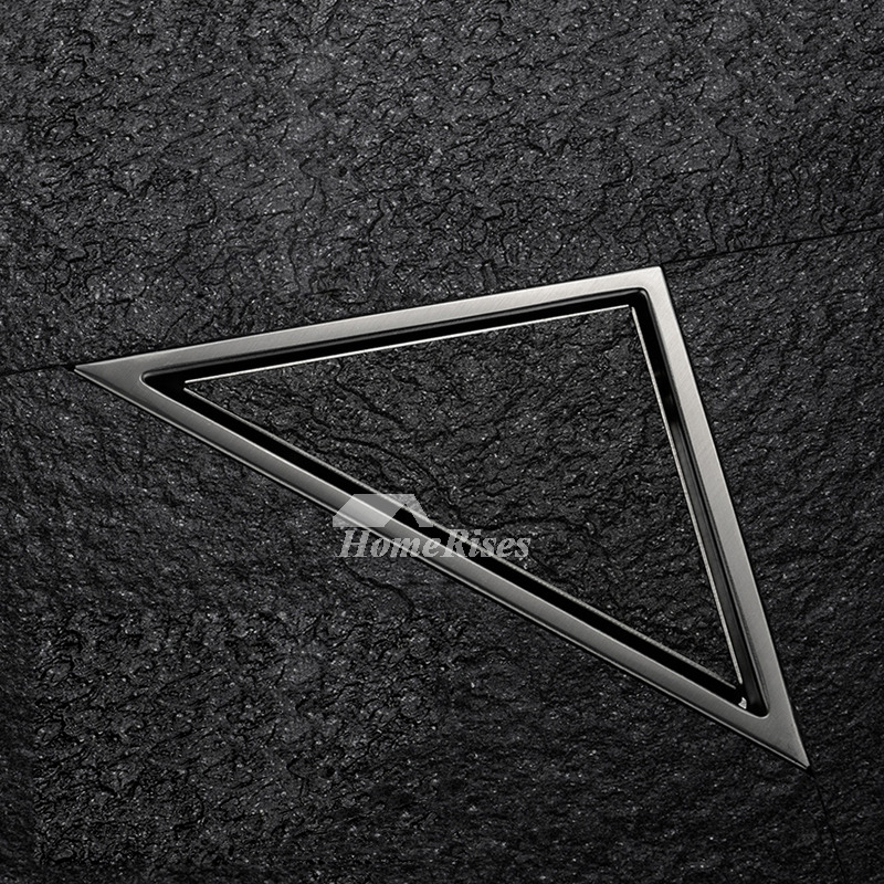Modern Stainless Steel Triangle Corner Hidden Shower Drain