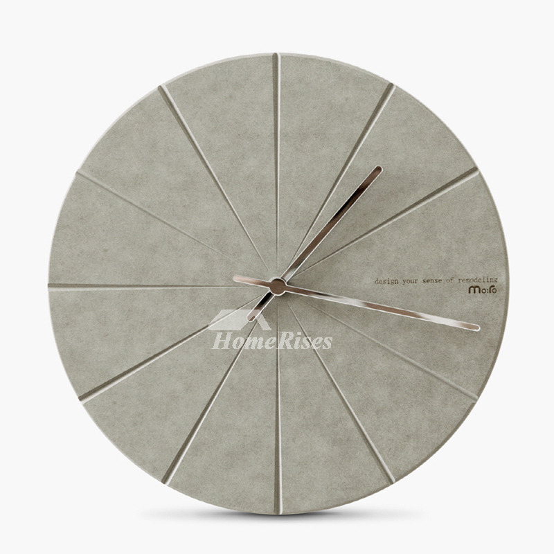 . Nordic Round Wooden Modern Wall Clock Silent Living Room Best