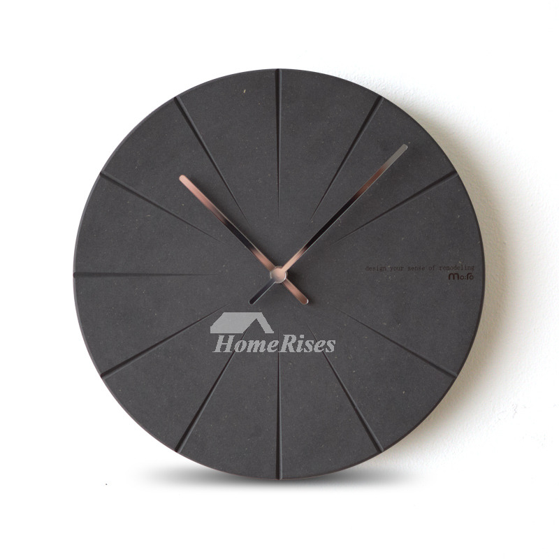 Nordic Round Wooden Modern Wall Clock Silent Living Room Best
