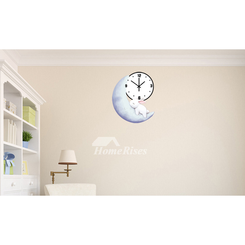 Room Wall Clocks Kid Silent Decorative Painting Wooden Funny