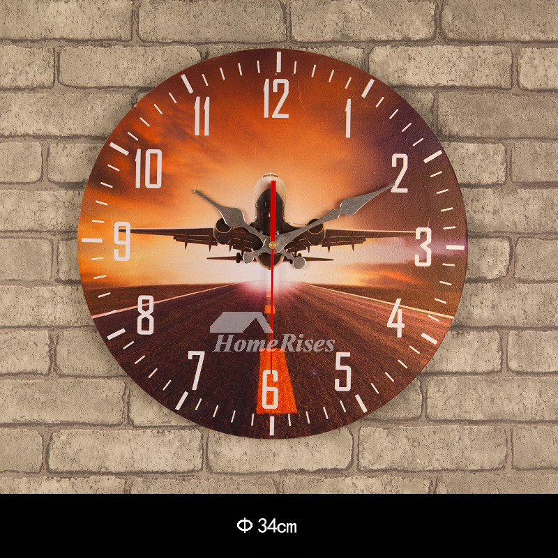Cheap Wall Clocks Online 13 5 Inch Wood Unique Wooden