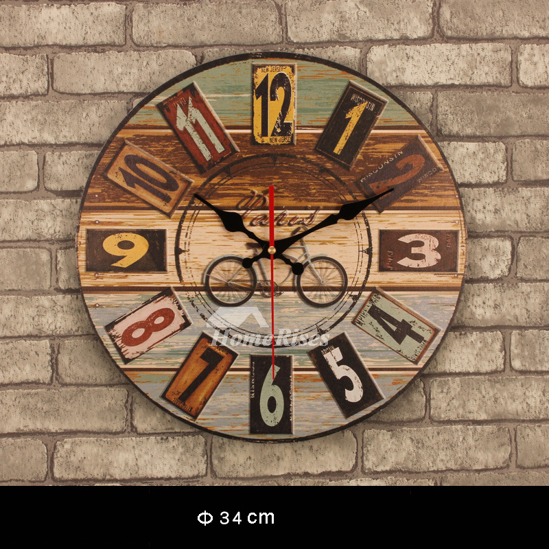 Wooden Wall Clock 13 5 Inch Round Novelty Personalized