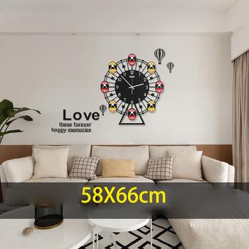 Decorative Wheel Modern Hanging Living Room Wall Clocks
