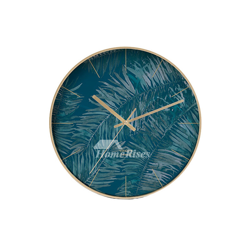 Contemporary Wall Clocks Round Metal Decorative Nordic