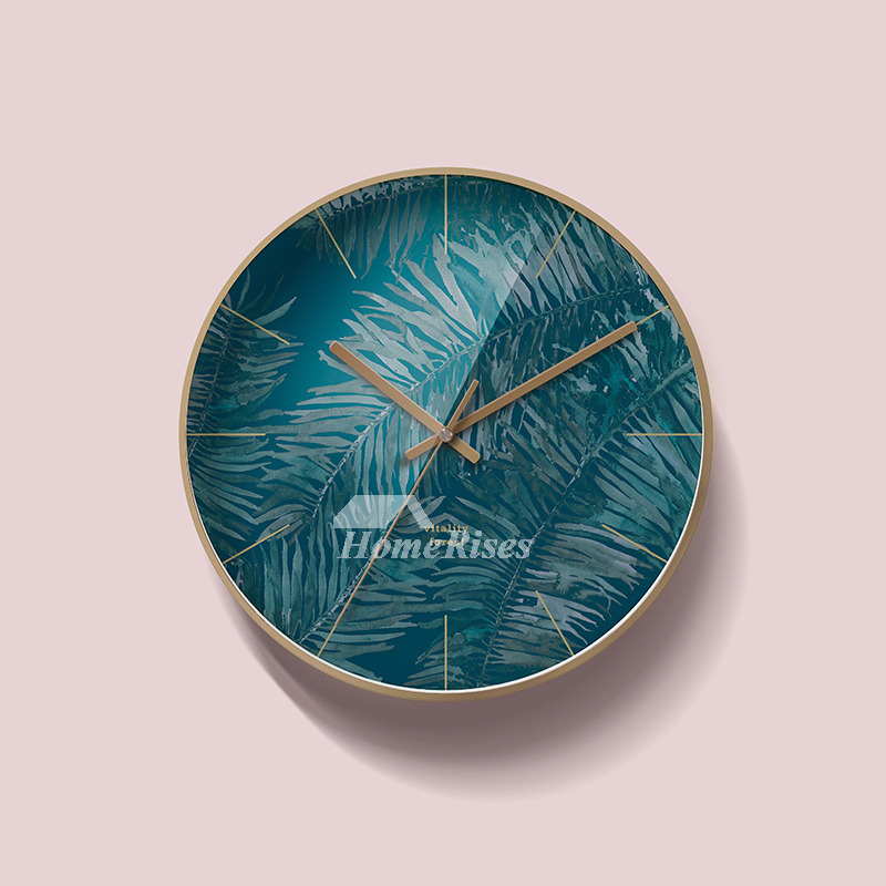 Contemporary Wall Clocks Round Metal Decorative Nordic ...