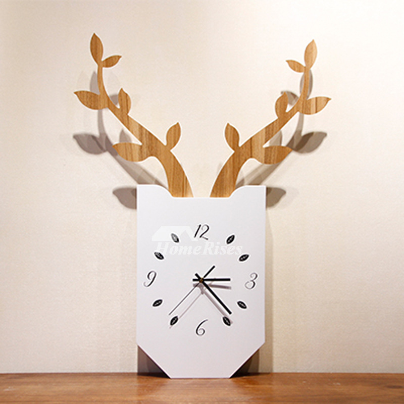 Best Wall Clocks Antler Hanging Painting Art Deco Battery Operated
