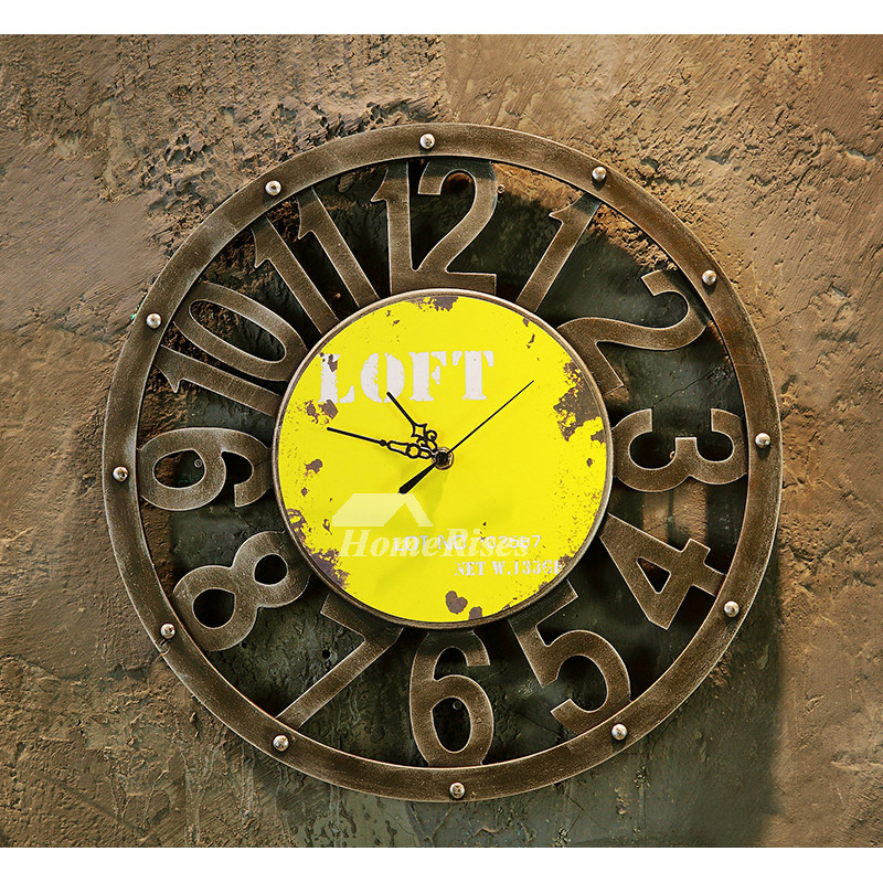 Novelty Wall Clocks Hanging Round 15 7 Inch Wood Carved