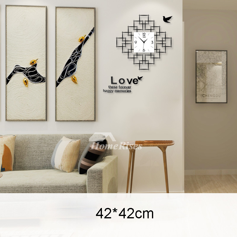 Room Wall Clocks Acrylic Hanging Silent Decorative Modern